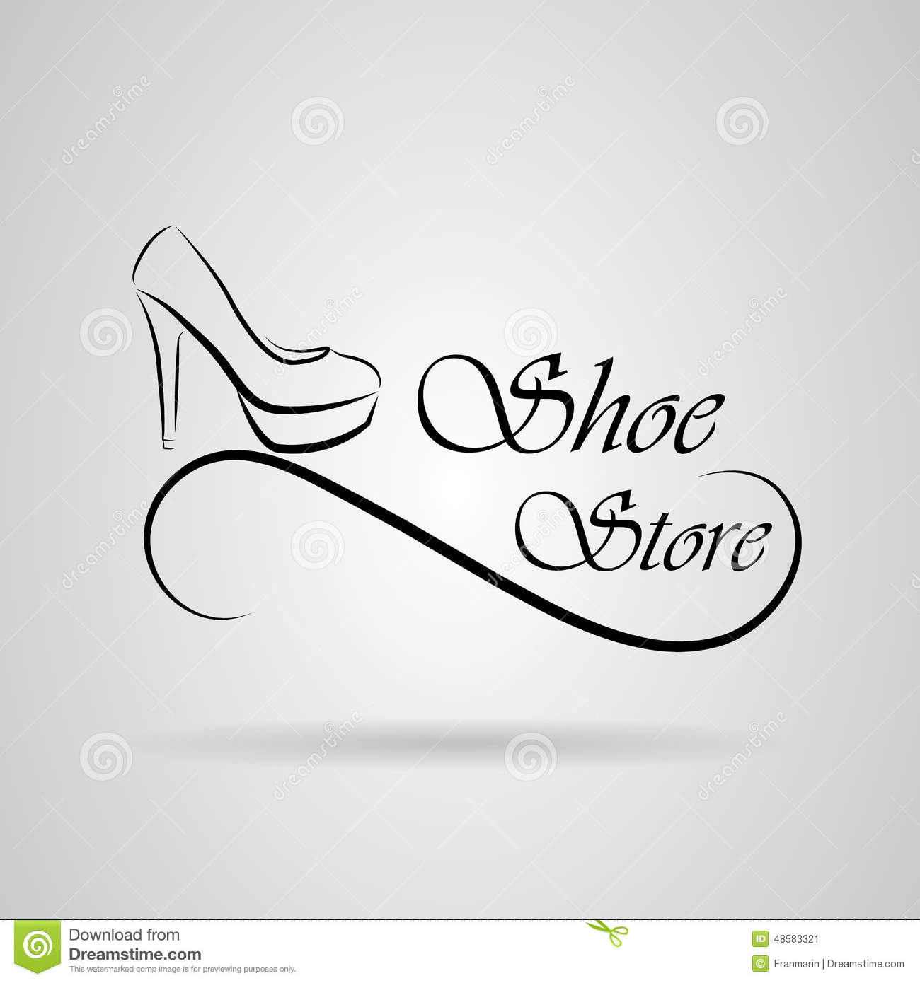 Logo Shoes Stock Vector - Image: 48583321
