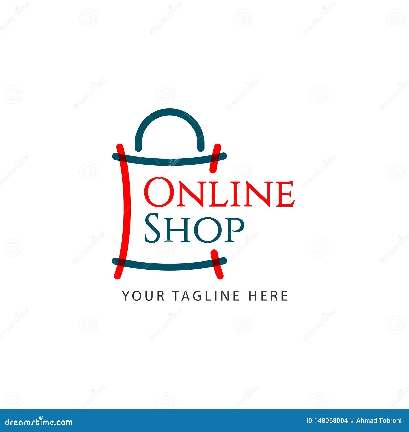 Online Shop Logo Vector Template Design Illustration Stock Vector Illustration Of Flat Business 148068004