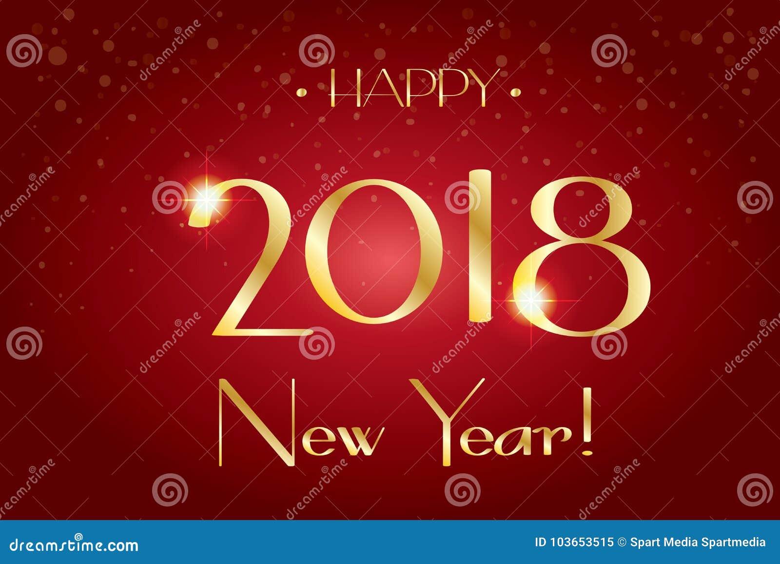 2018 Logo Sign, Happy New Years Wallpaper Stock Vector