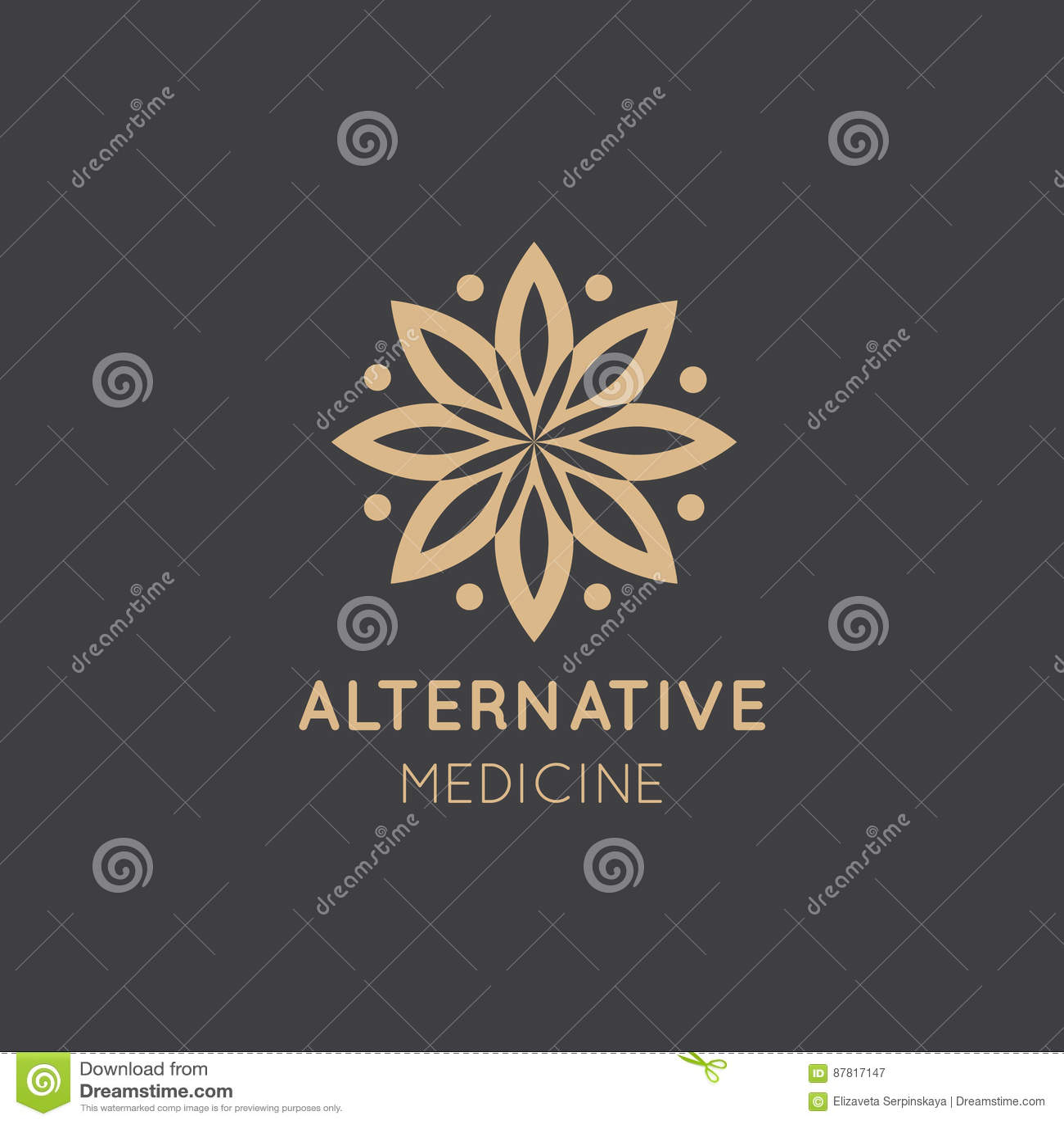Logo Sign van Alternatieve Geneeskunde IV Vitaminetherapie, anti-Veroudert, Wellness, Ayurveda, Chinese Geneeskunde Holistic cent