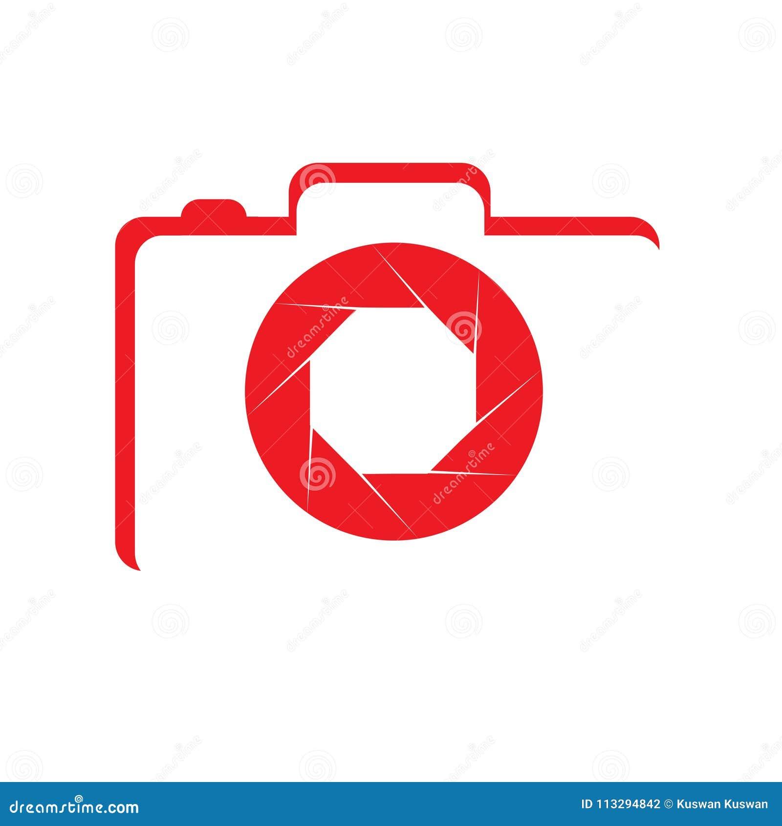 Simple Logo Red Camera stock illustration. Illustration of ...
