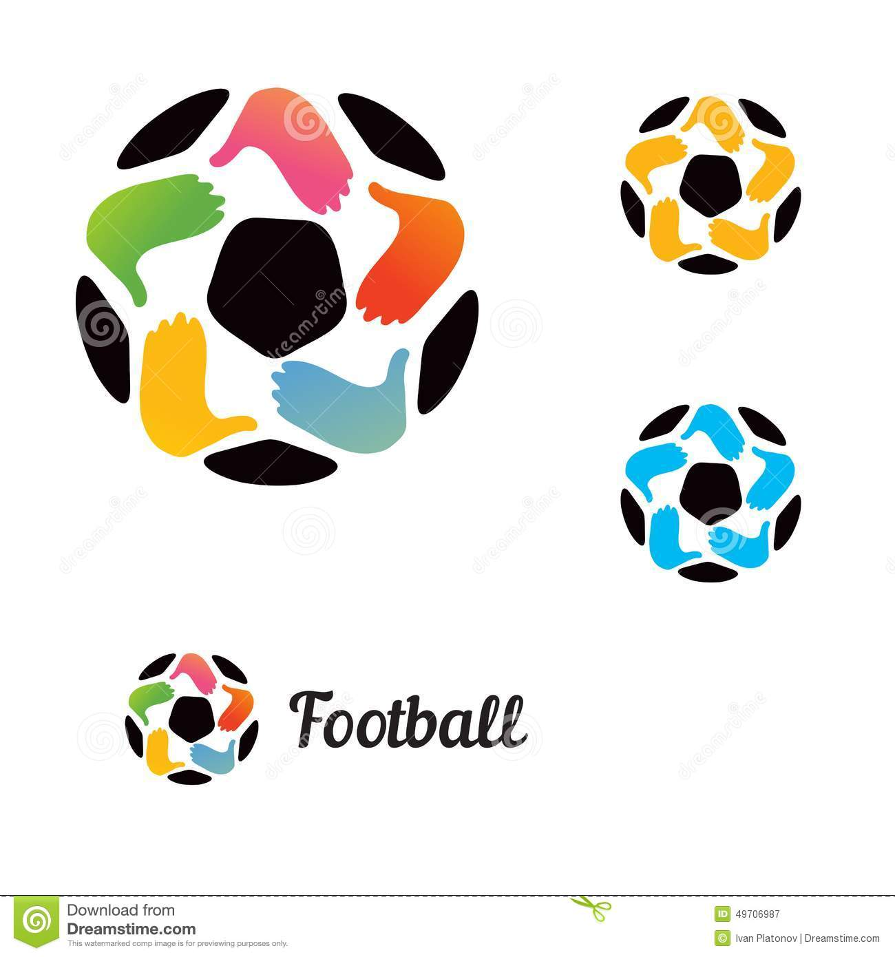 logo with a soccer ball with his hands stock vector Couple Holding Hands Silhouette people holding hands clip art invisible