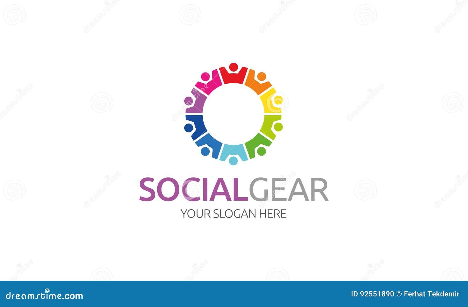 Logo sociale dell ingranaggio