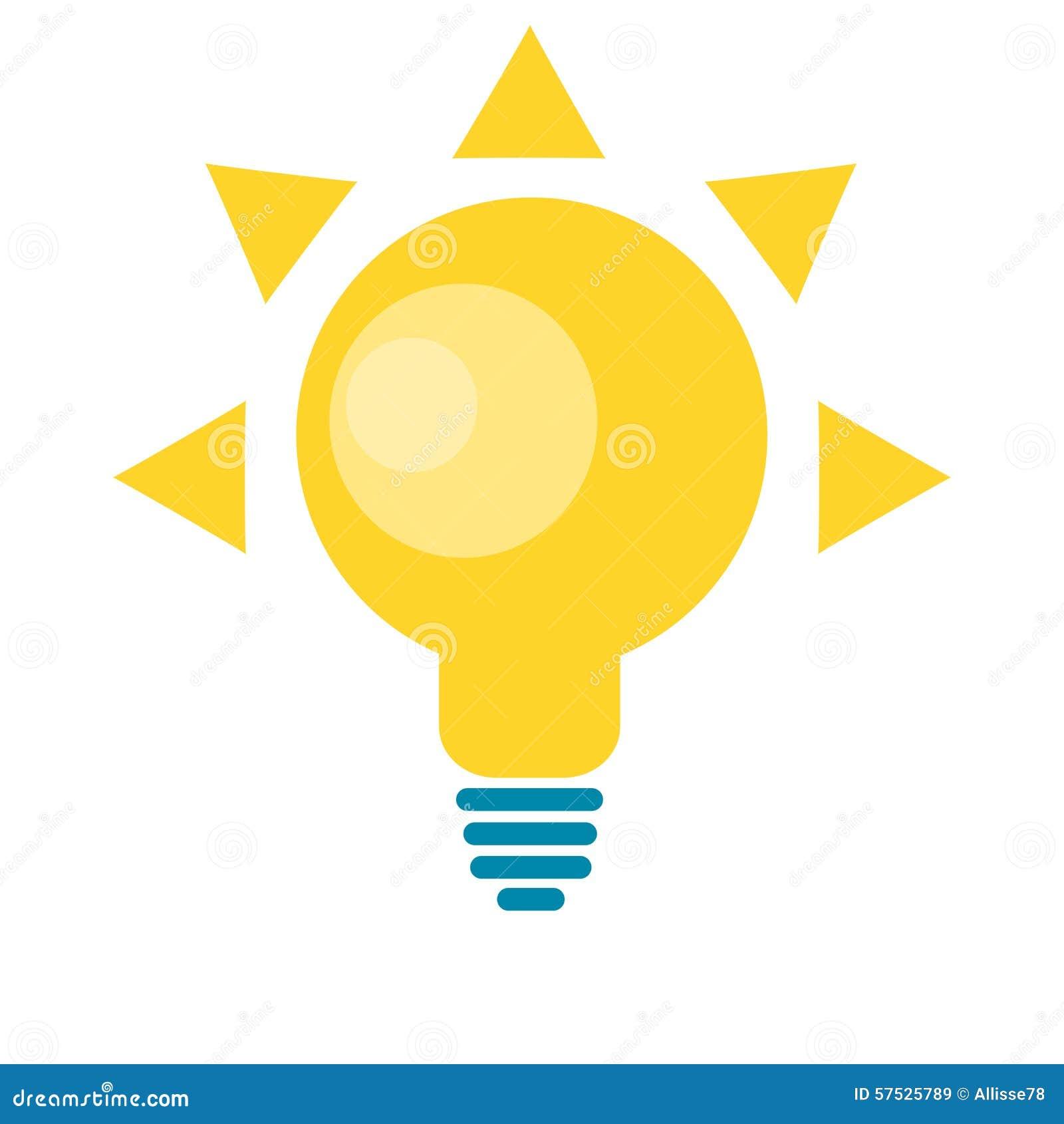 logo solaire de lampe d 39 id e du soleil pour l 39 illustration d 39 nergie d 39 eco illustration de. Black Bedroom Furniture Sets. Home Design Ideas