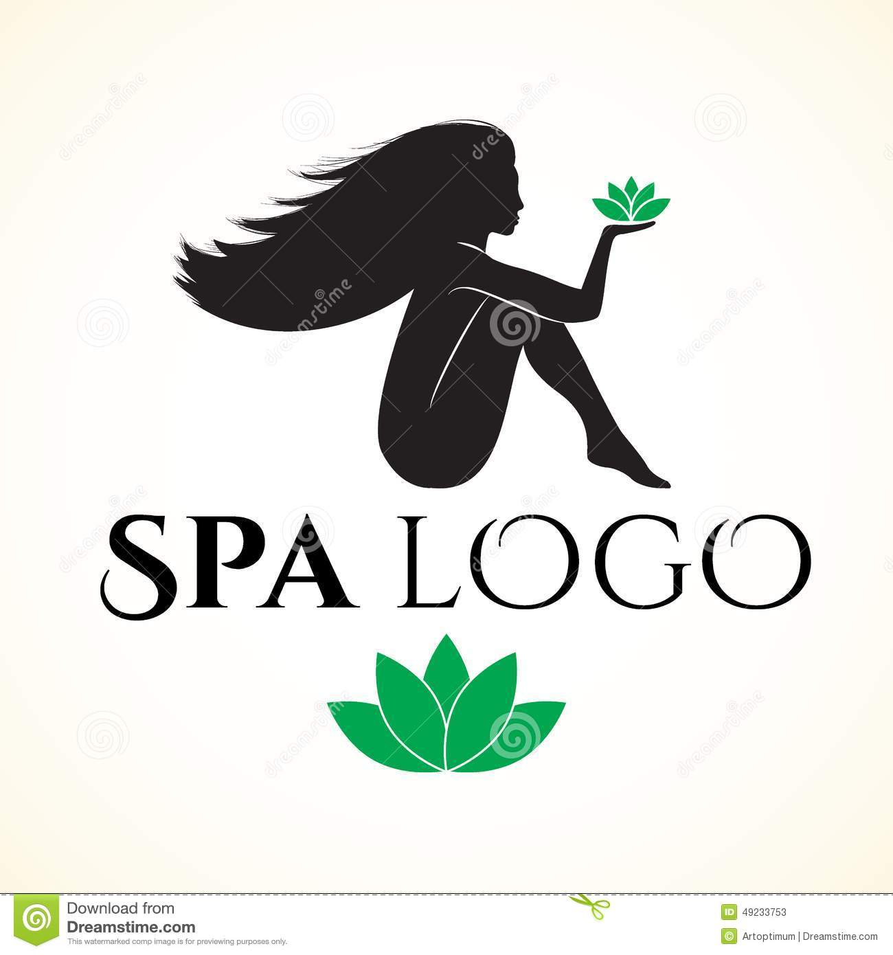 Logo For Spa Or Beauty Salon With Woman Stock Vector