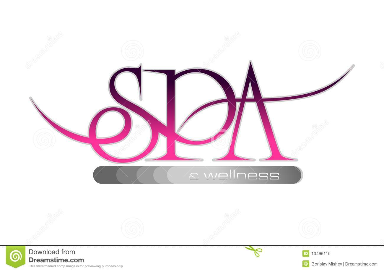 Spa wellness logo  Logo Spa And Wellness In Pink And Grey Color Illustration 13496110 ...