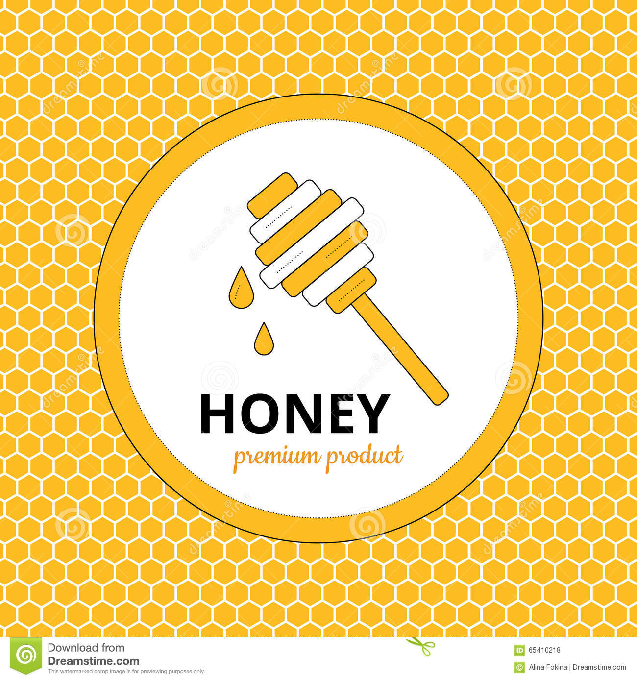 logo  sticker for honey brand  apiary stock vector image honeycomb clipart frame honeycomb clip art free