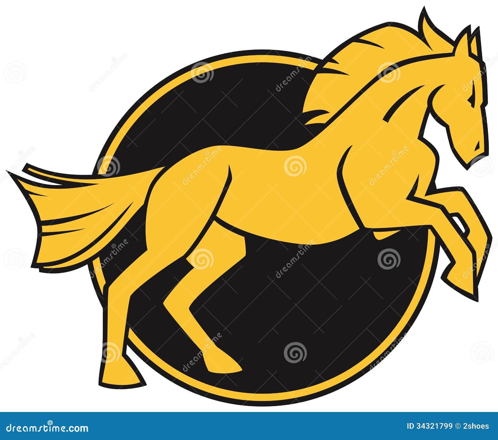 Logo Stilizzato Del Cavallo Immagini Stock Libere Da
