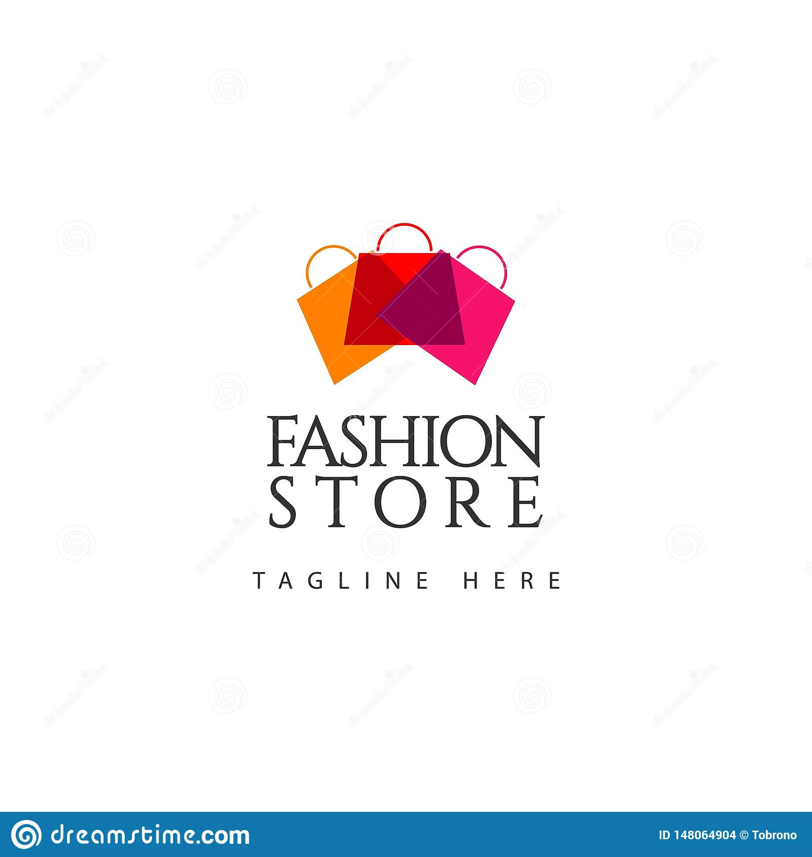 Fashion Store Logo Vector Template Design Illustration Stock Vector Illustration Of Line Abstract 148064904