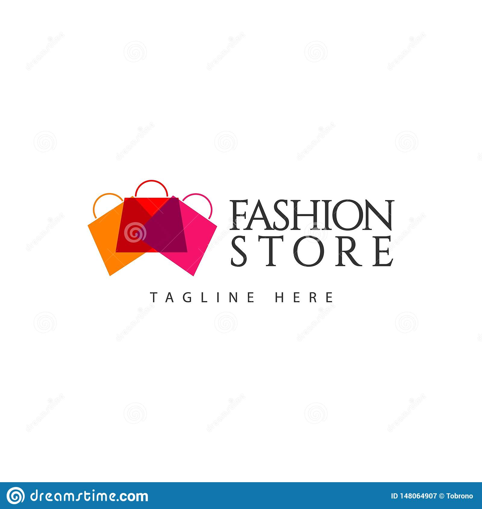 Fashion Store Logo Vector Template Design Illustration Stock Vector Illustration Of Black Clothes 148064907