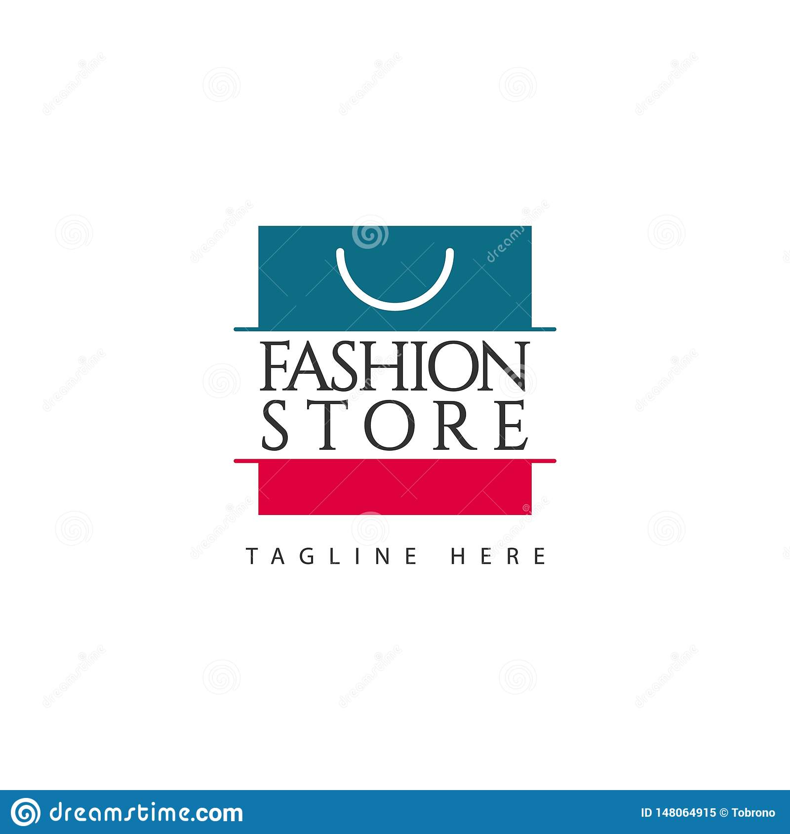 Fashion Store Logo Vector Template Design Illustration Stock Vector Illustration Of Woman Beauty 148064915