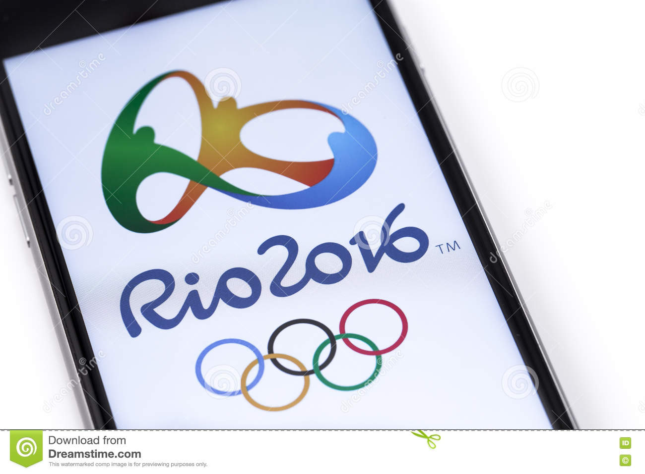 Logo Of The 2016 Summer Olympiad Editorial Stock Photo Image Of Logo Ring 74410283