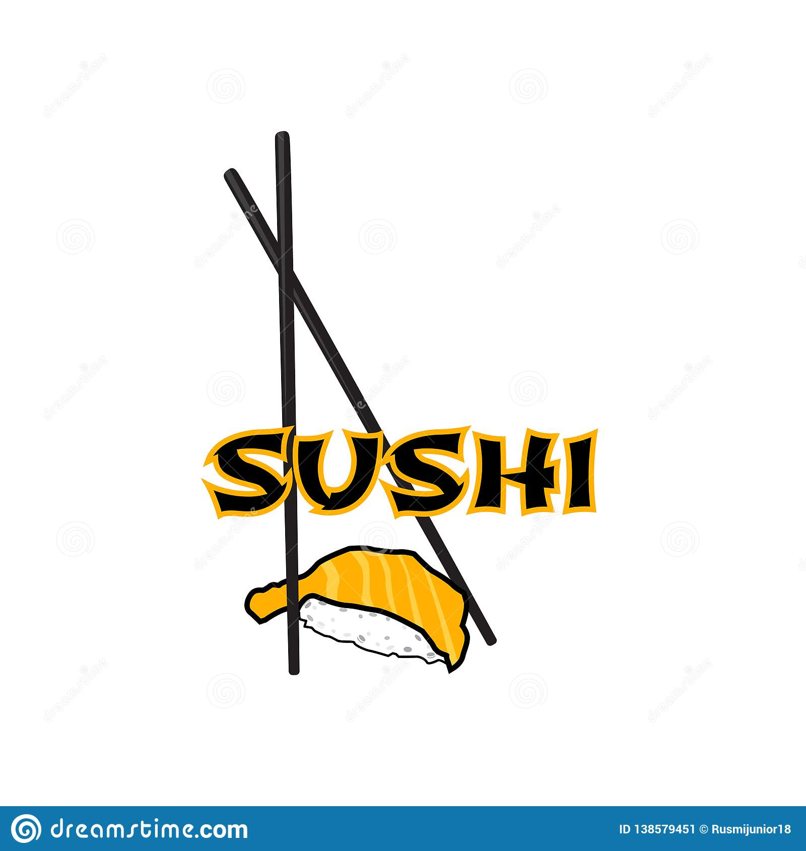 Logo Sushi Restaurant Stock Illustration Illustration Of Card 138579451