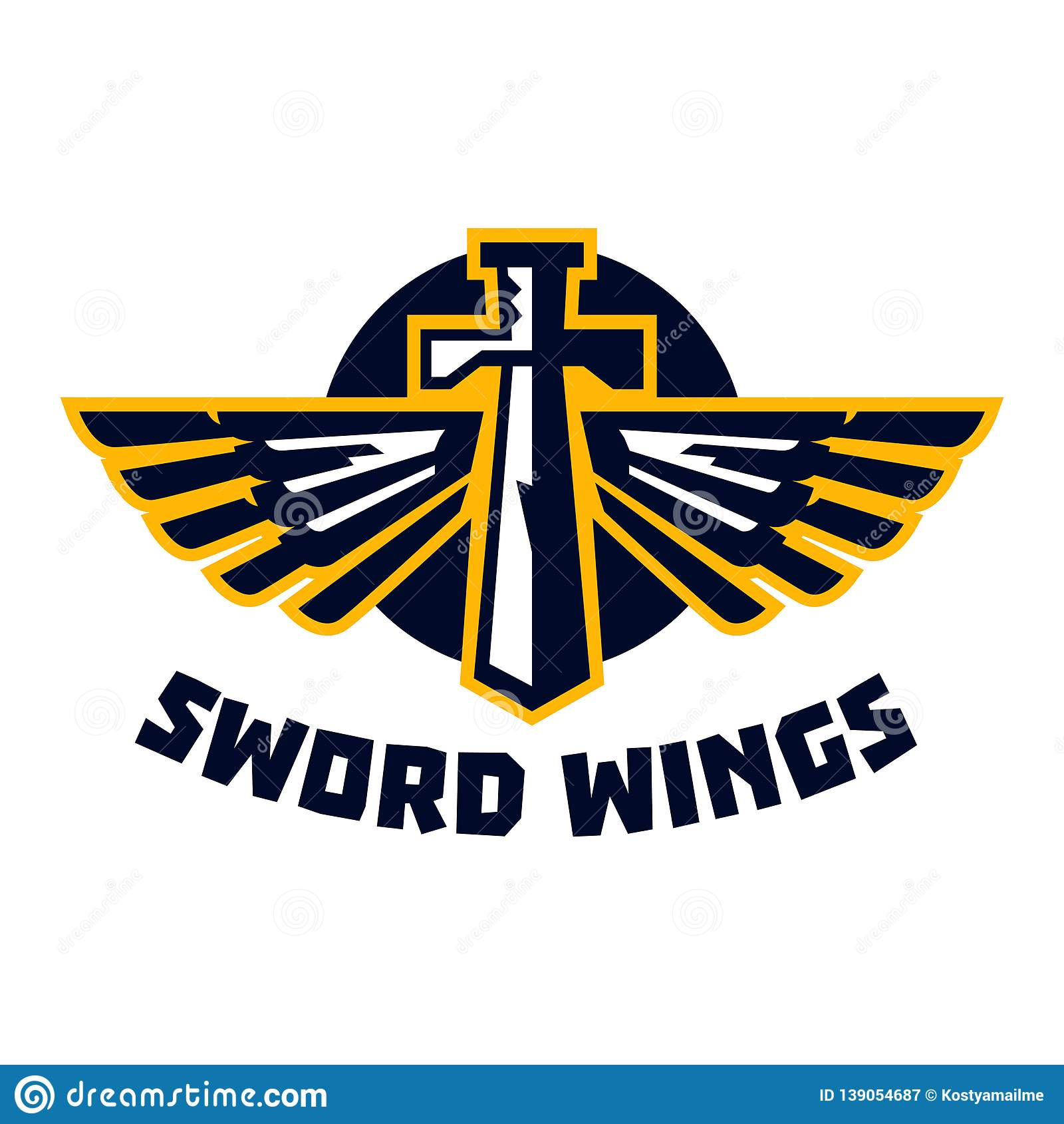 Logo Sword Wings  Steel Arms  The Emblem On The Topic Of The
