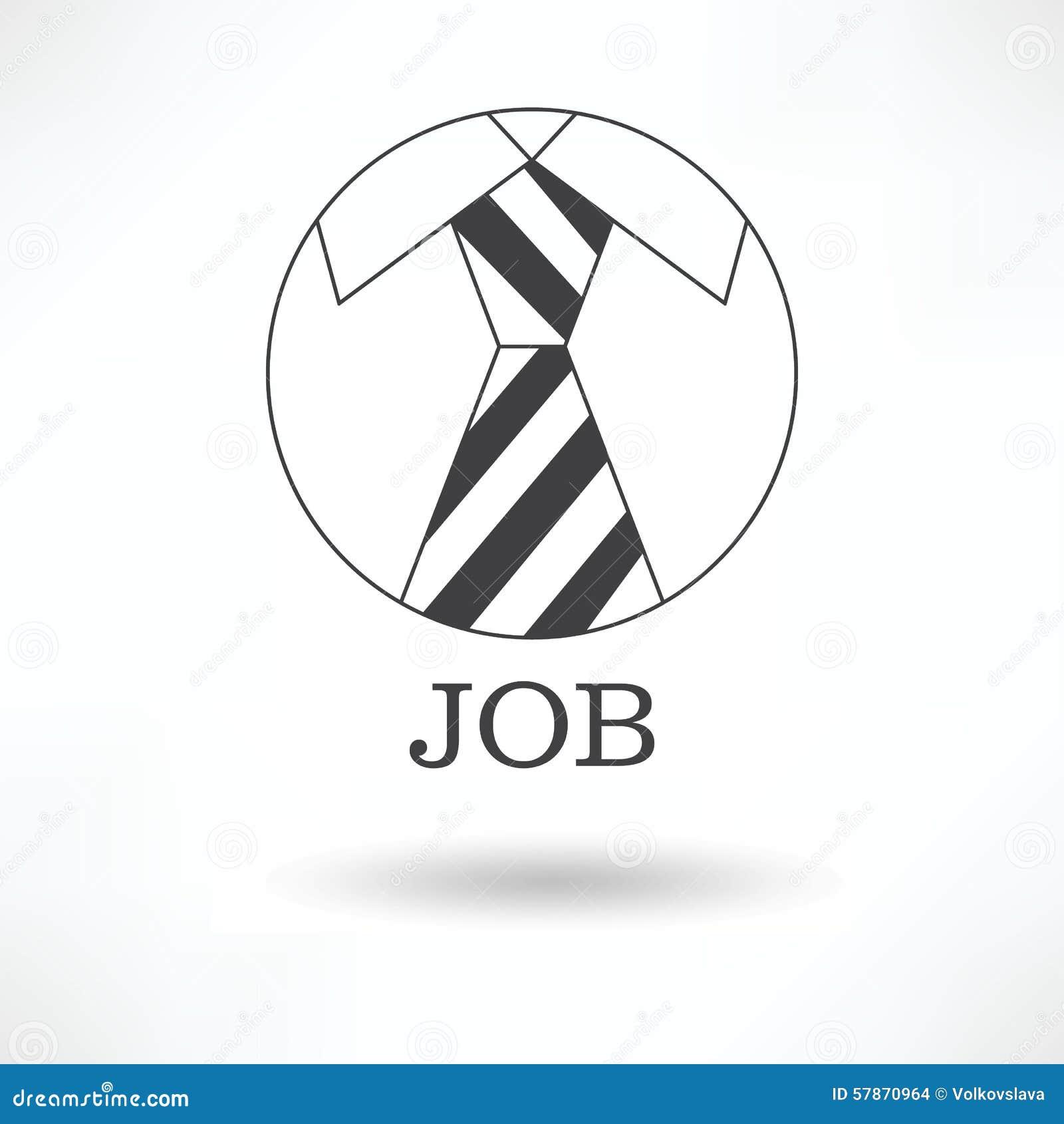 Vector Drawing Lines Job : The logo symbol tie office job stock vector image