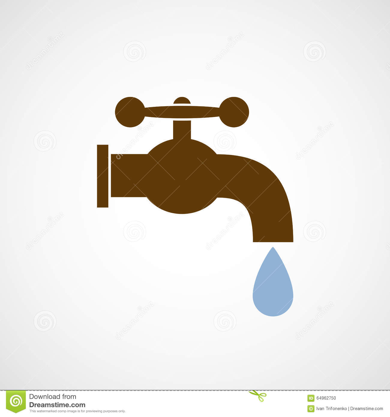 logo tap with a drop of water stock illustration image