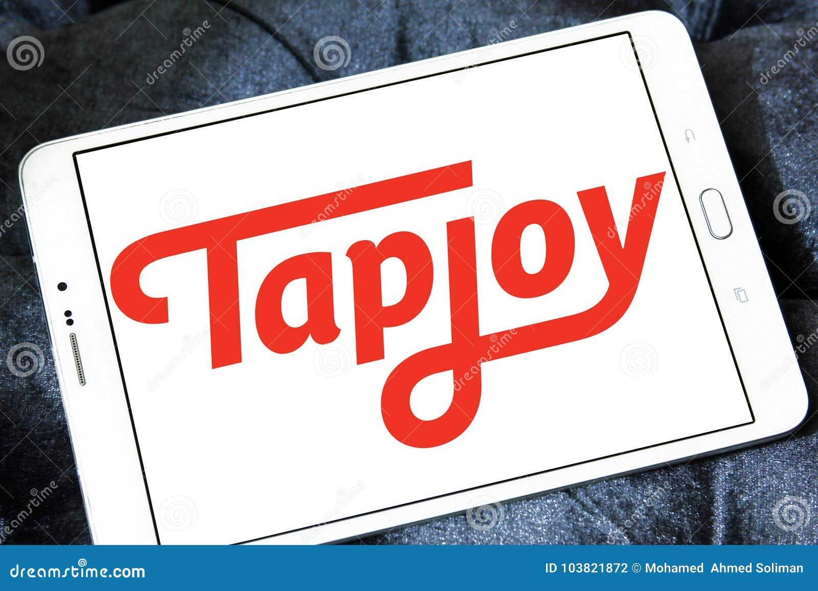 Tapjoy company logo editorial photography  Image of logotype
