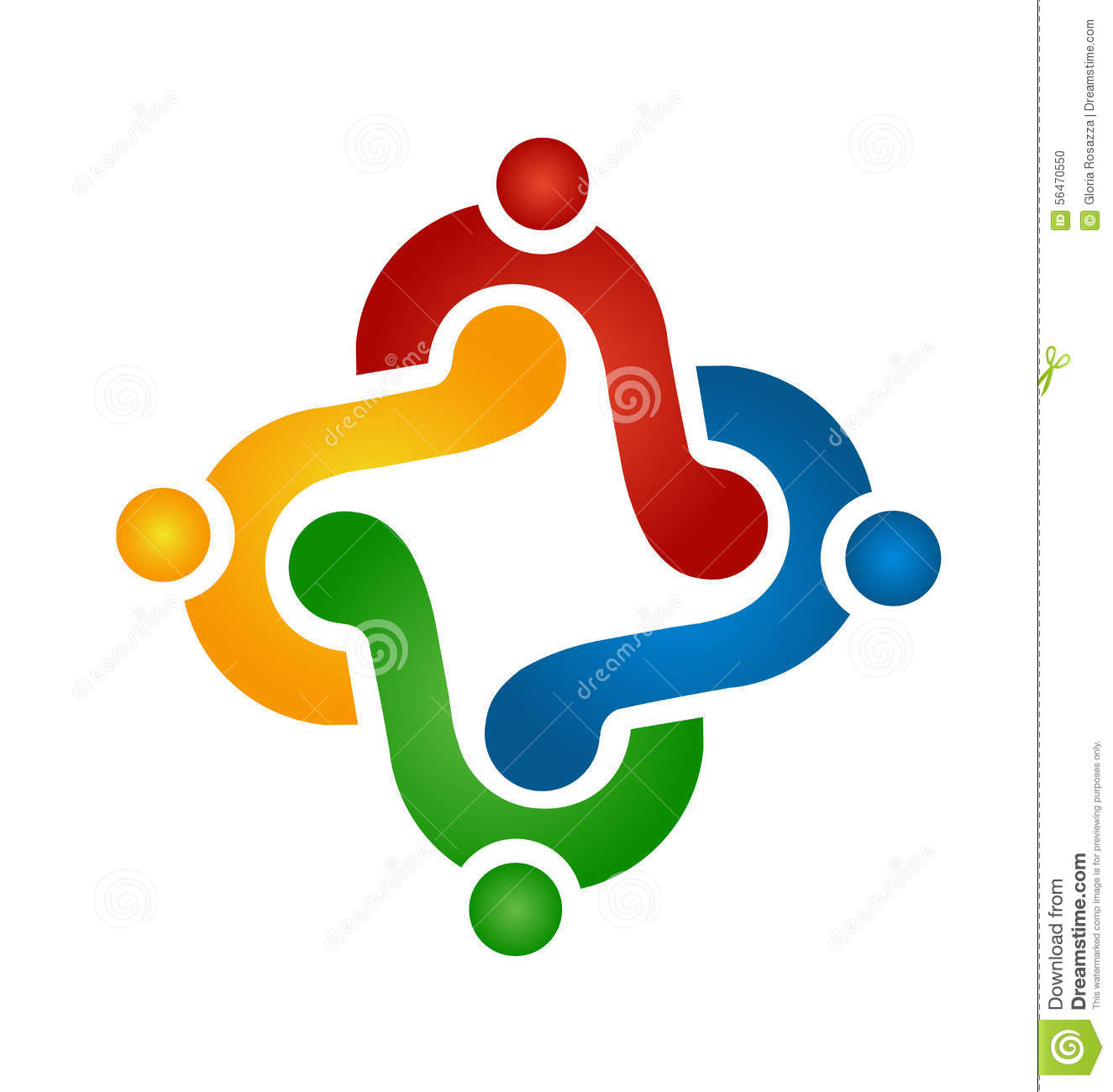 Logo Teamwork Holding Hands Stock Vector - Image: 56470550