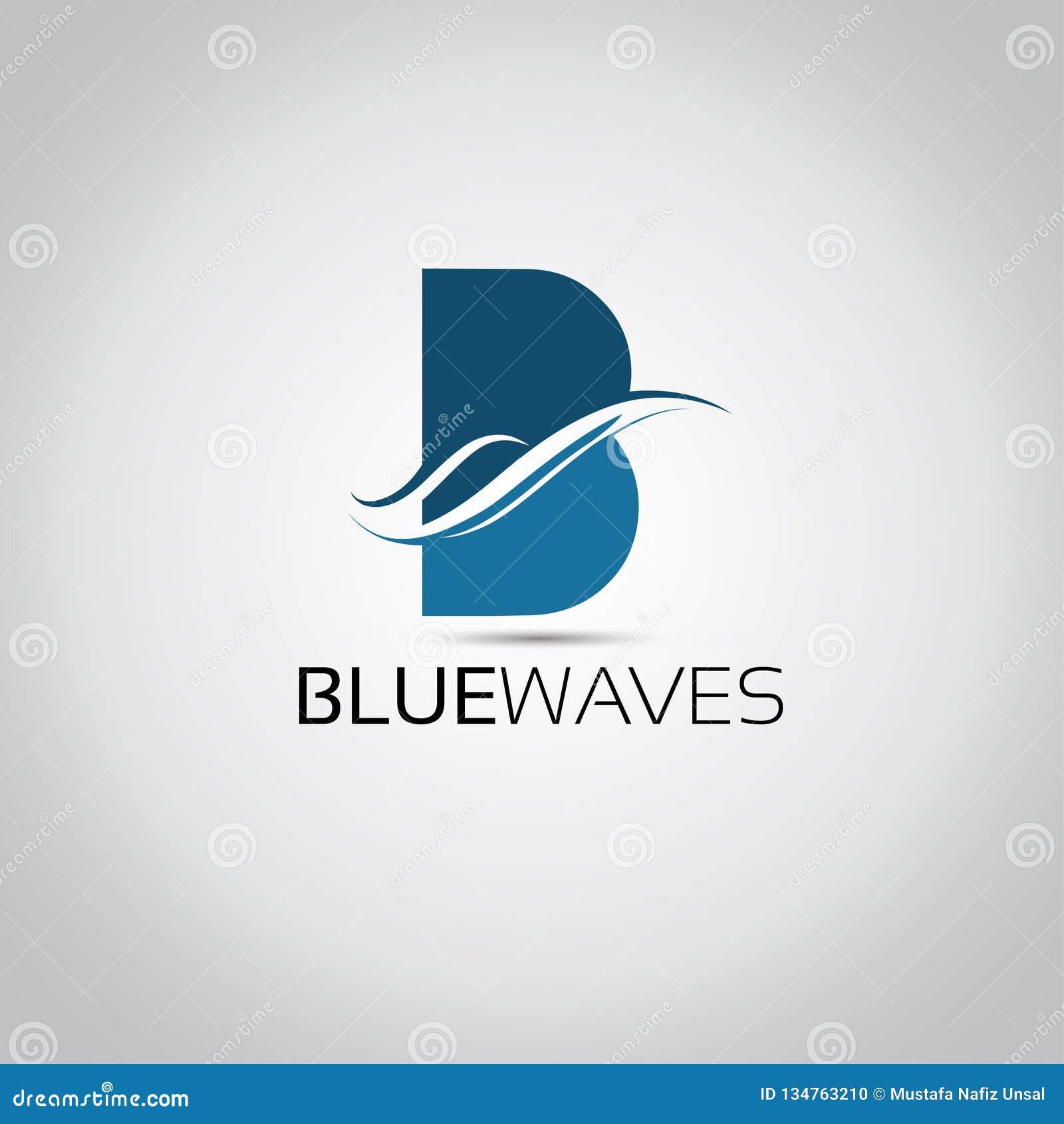 B Lettter Waves Logo