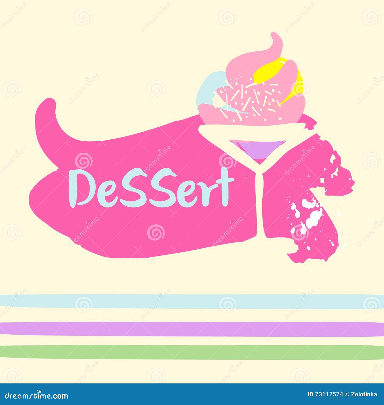 logo template for desserts shop illustration stock vector