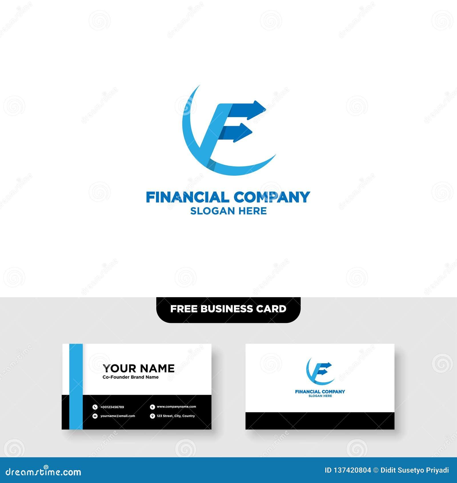 Logo Template Financier De Comptabilite Et Carte Visite Professionnelle
