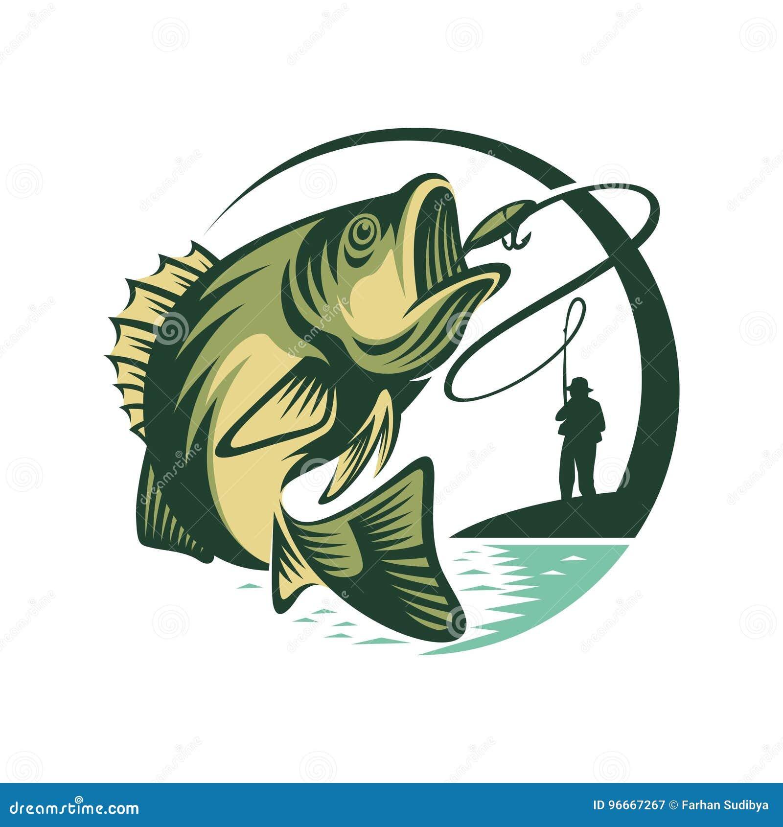 Logo Template Fish en Visser