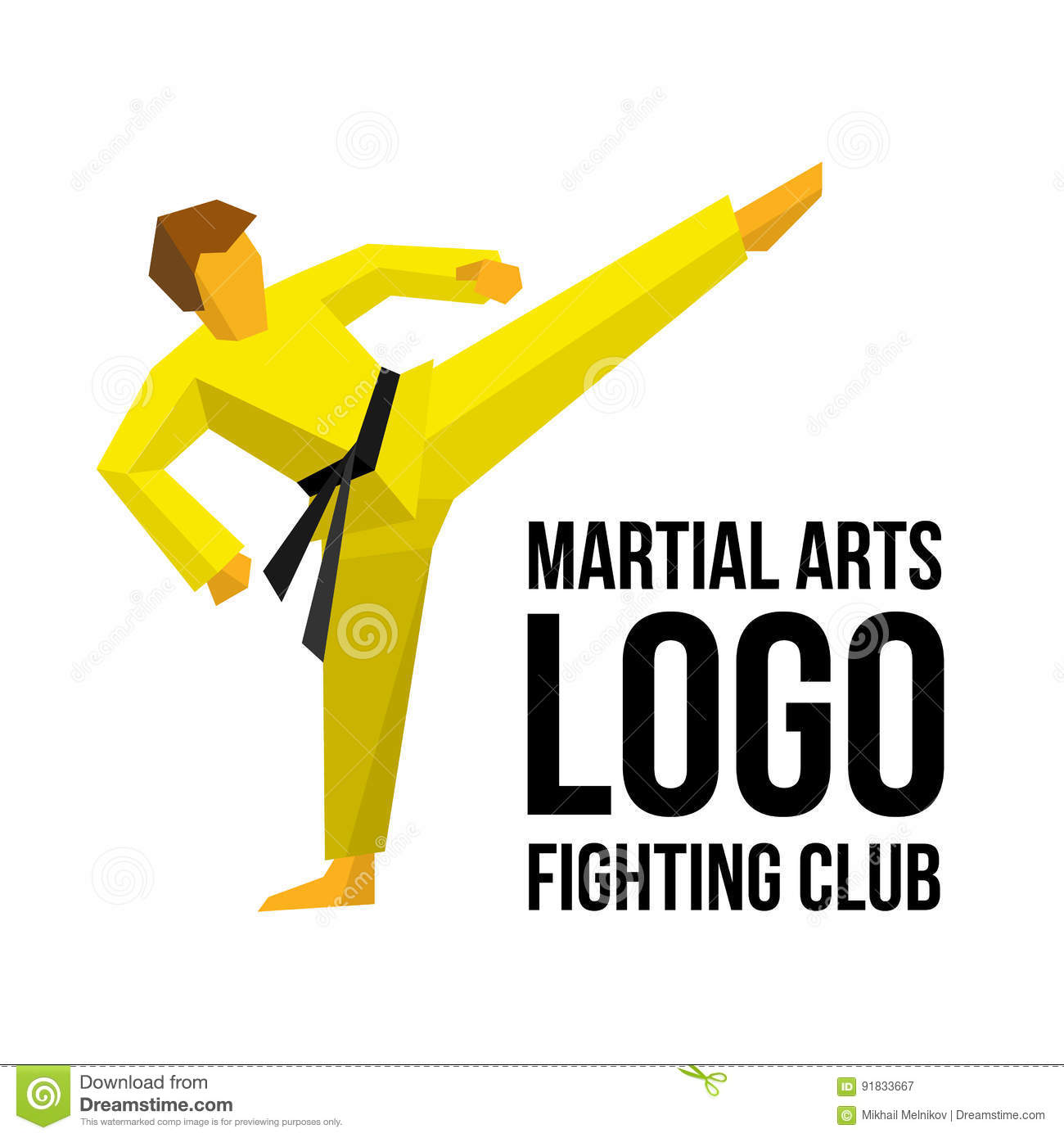 logo template for martial arts club or gym stock vector, Presentation templates