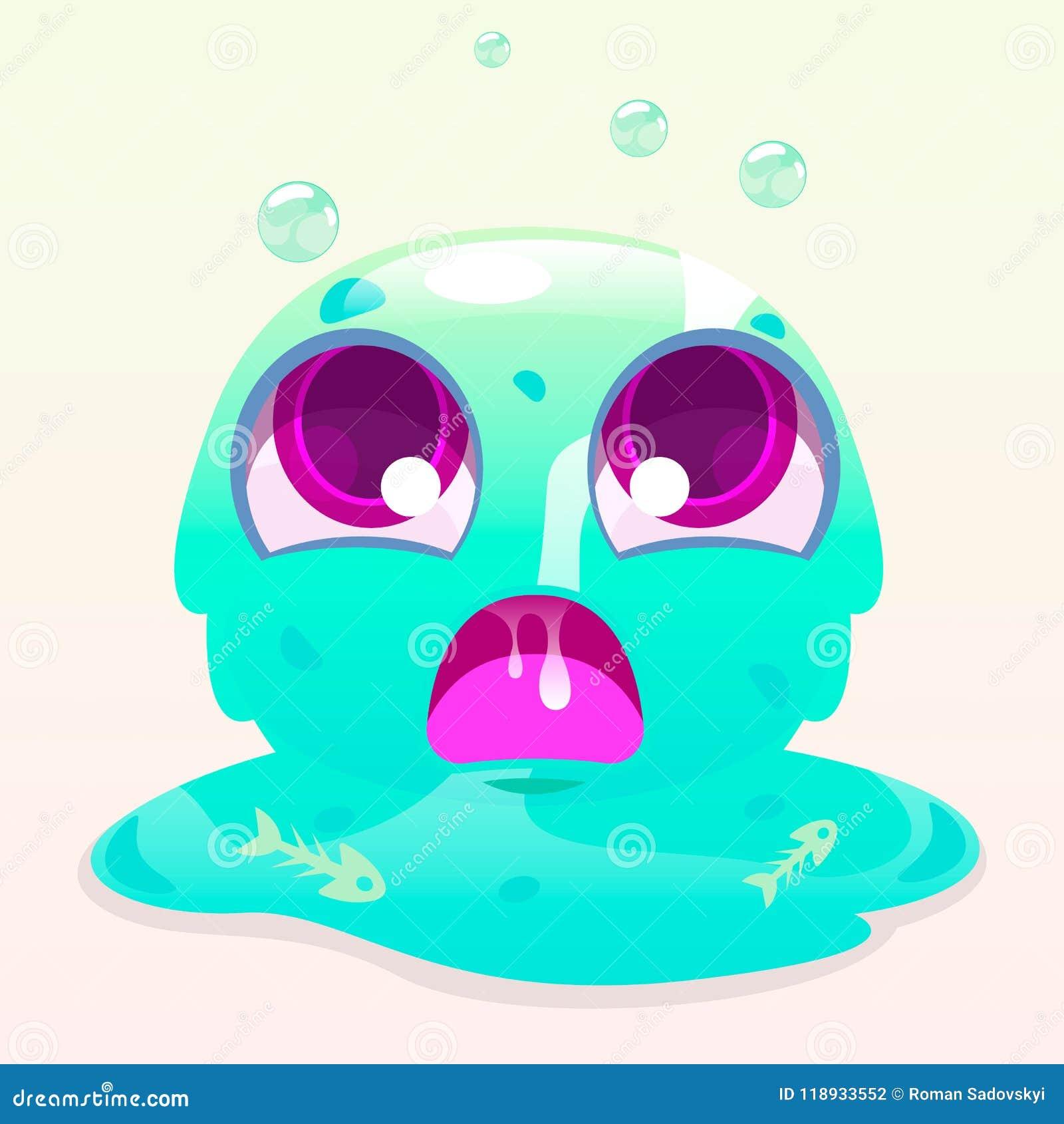 Angry Slime Monster Stock Vector Illustration Of Little 118933552