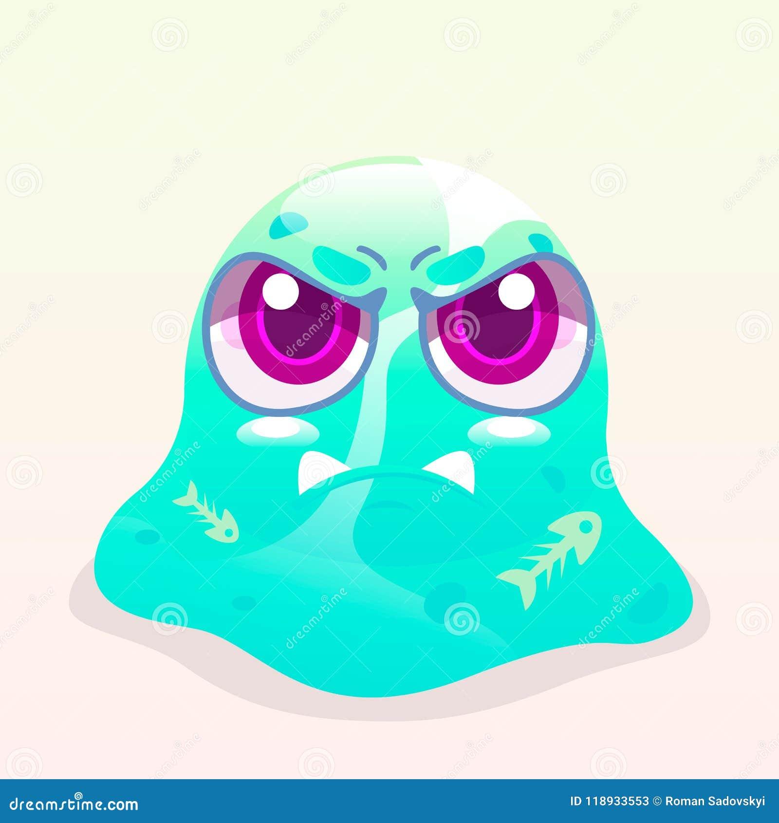 Angry Slime Monster Stock Vector Illustration Of Slime 118933553