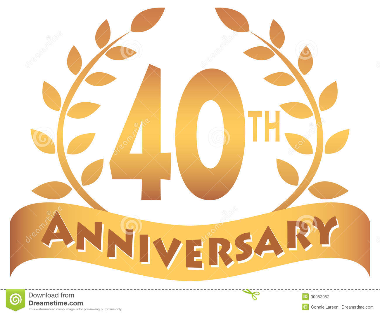 Fortieth Anniversary Banner Eps Stock Photography