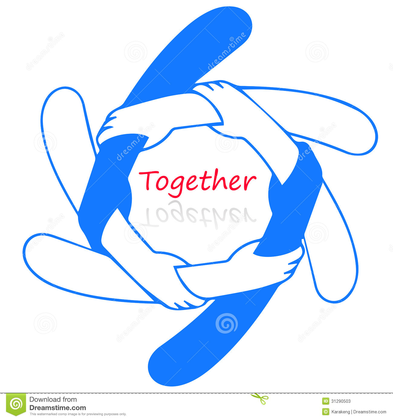logo for together stock illustration illustration of blue Thinking Clip Art Free diversity clip art free images