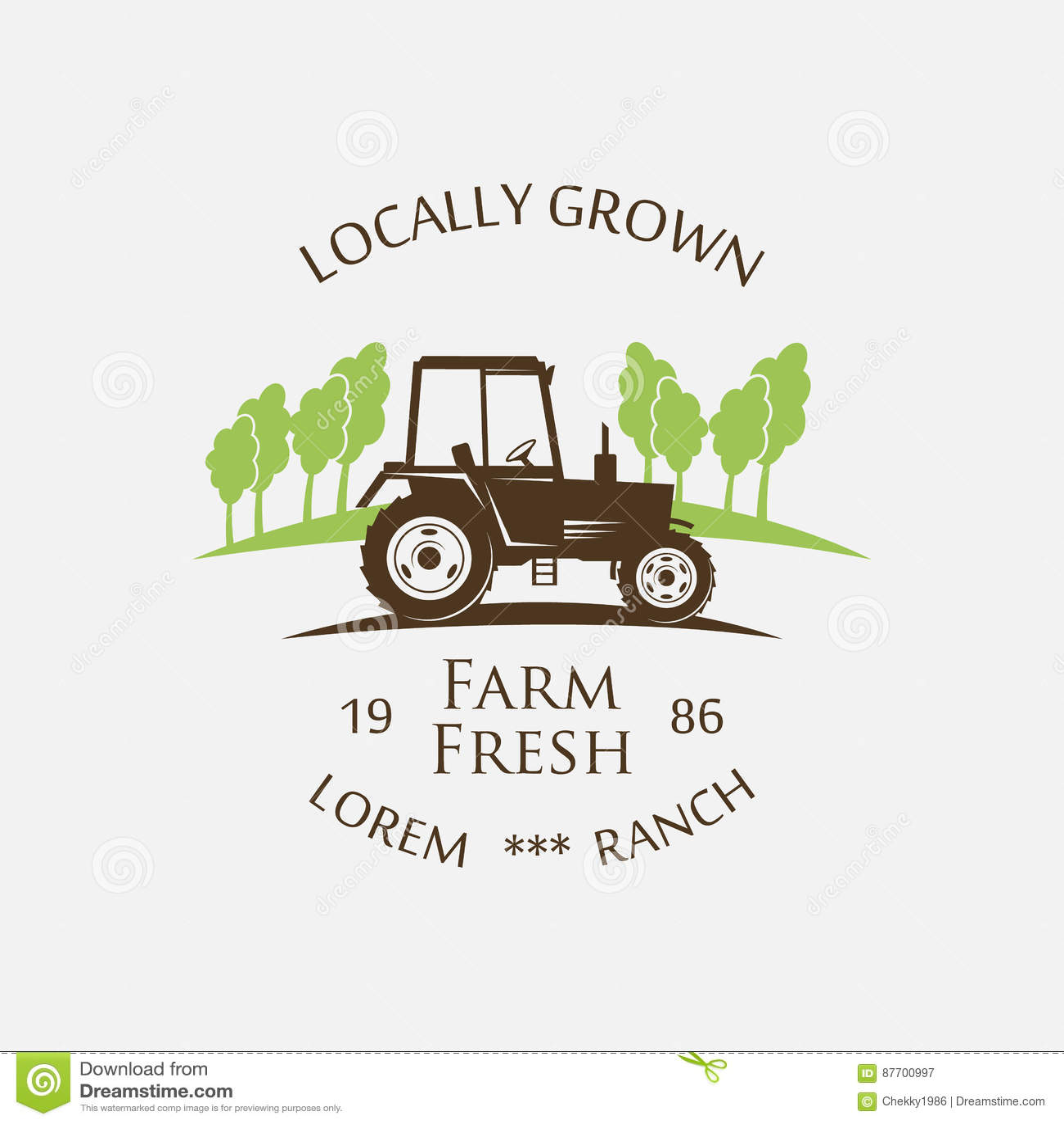 Logo tractor - vector illustration
