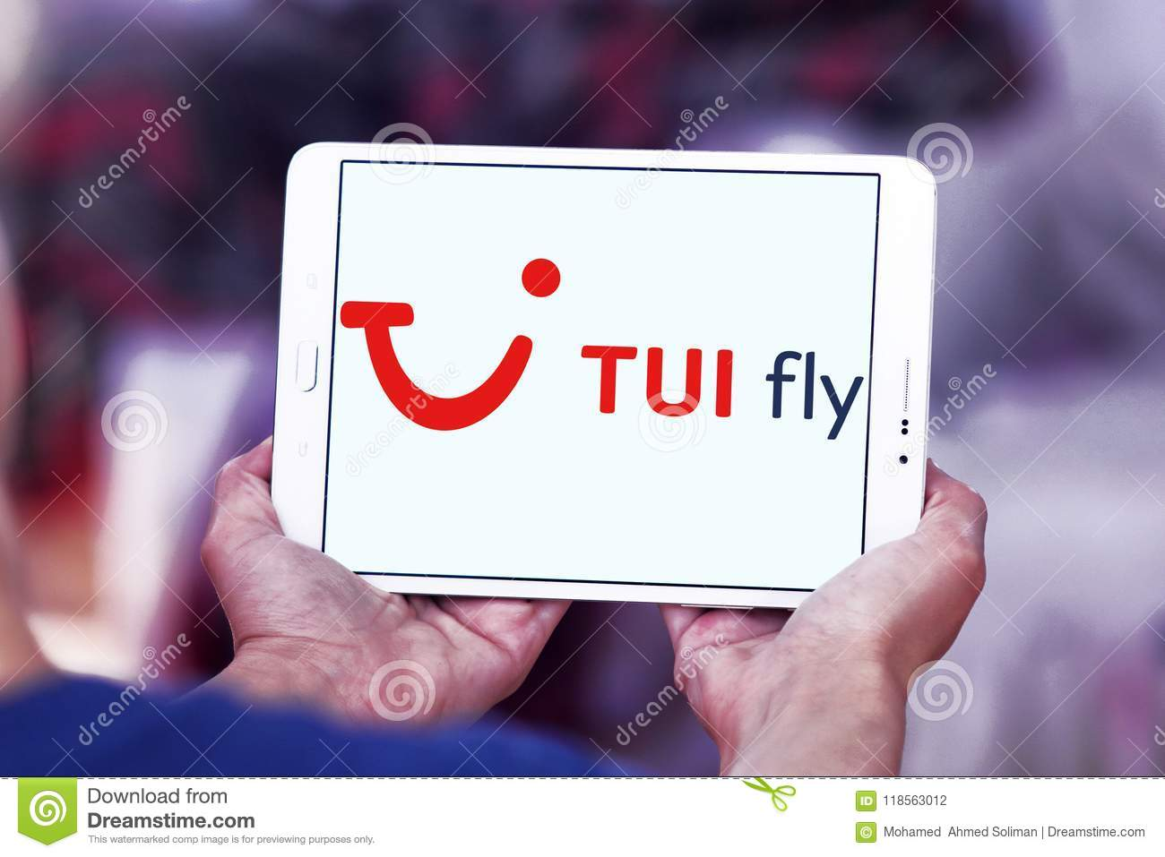 Logo Of TUI Fly On Samsung Tablet