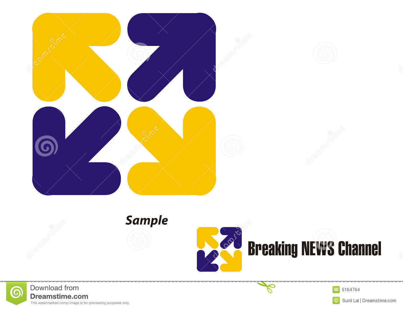logo - tv channel  travel  tour stock images