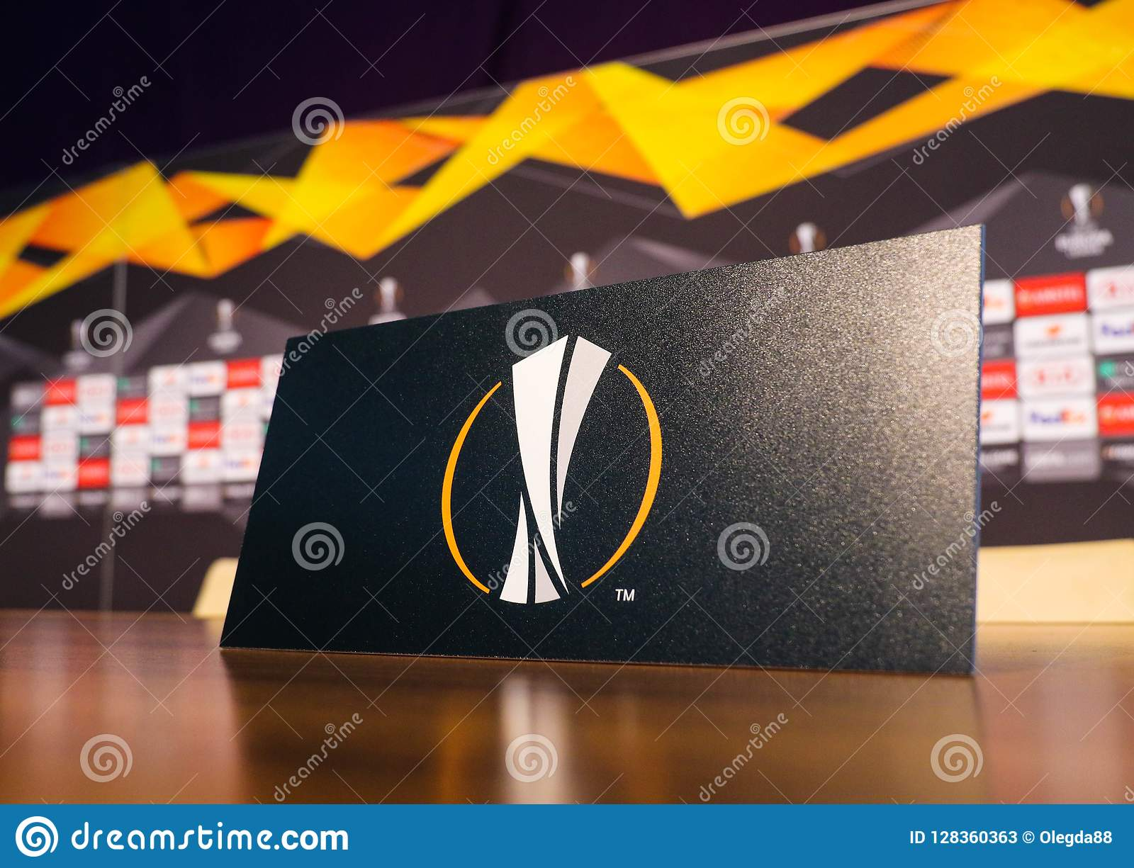 logo of the uefa europa league editorial stock photo image of conference match 128360363 https www dreamstime com logo uefa europa league poltava ukraine october logo uefa europa league plate pre match press image128360363