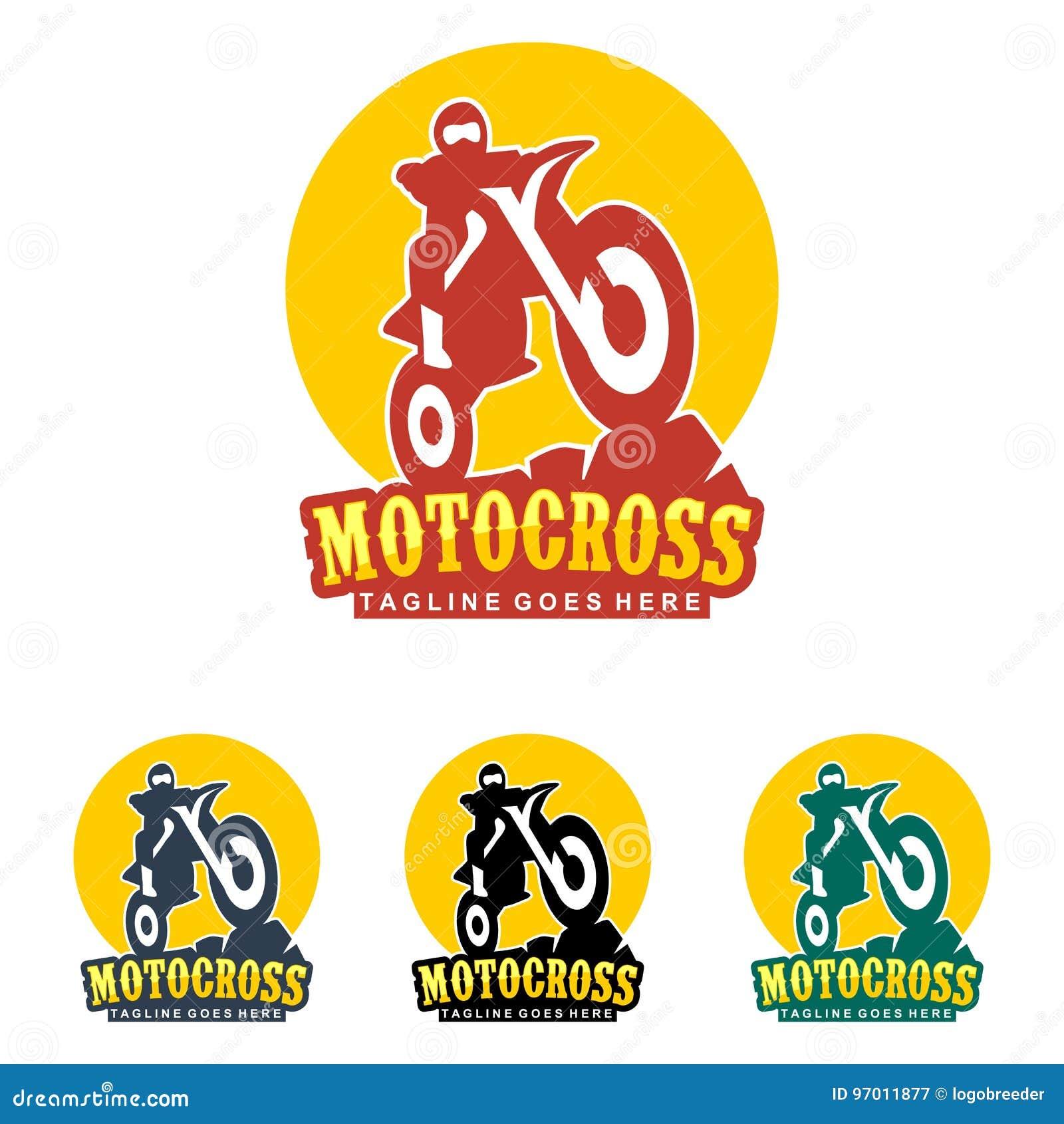 Logo Unico Dell Illustrazione Di Motocross Illustrazione