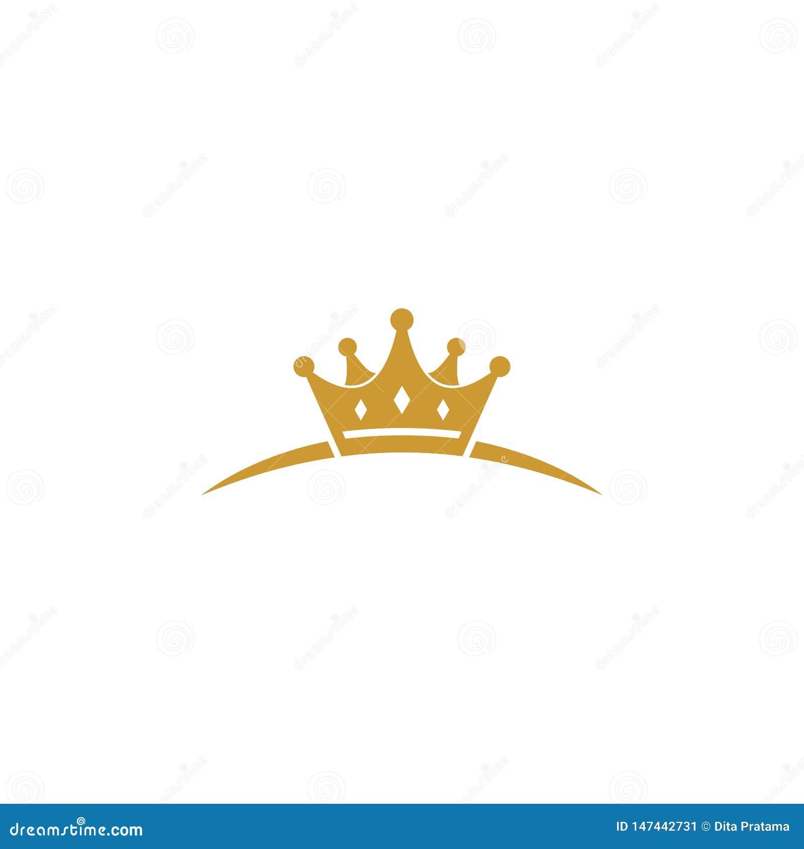 Logo unique de couronne d or