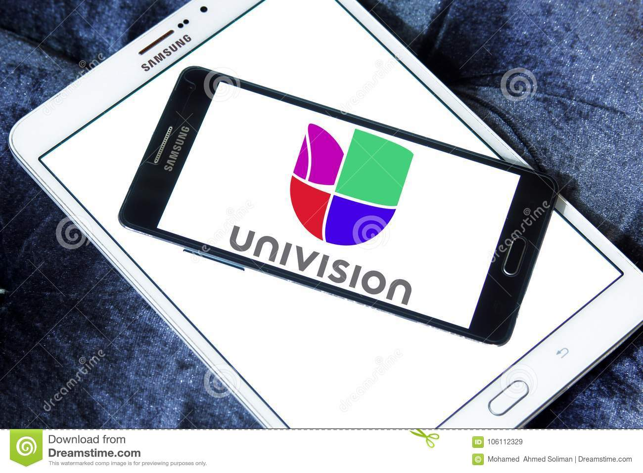 Univision Television Network Logo Editorial Stock Image - Image of