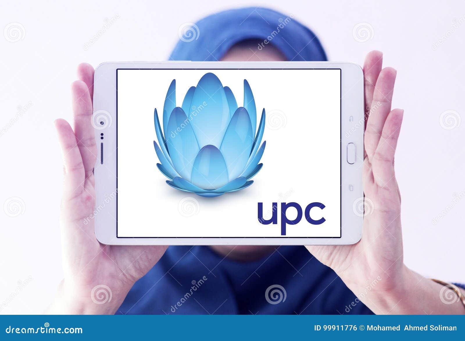 UPC Broadband logo editorial photo  Image of communication