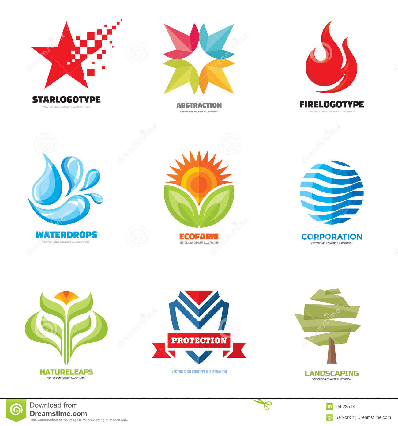 Logo Vector Set - Creative Illustrations. Logo Collection. Vector ... for Logo Design Samples Free Download  300lyp