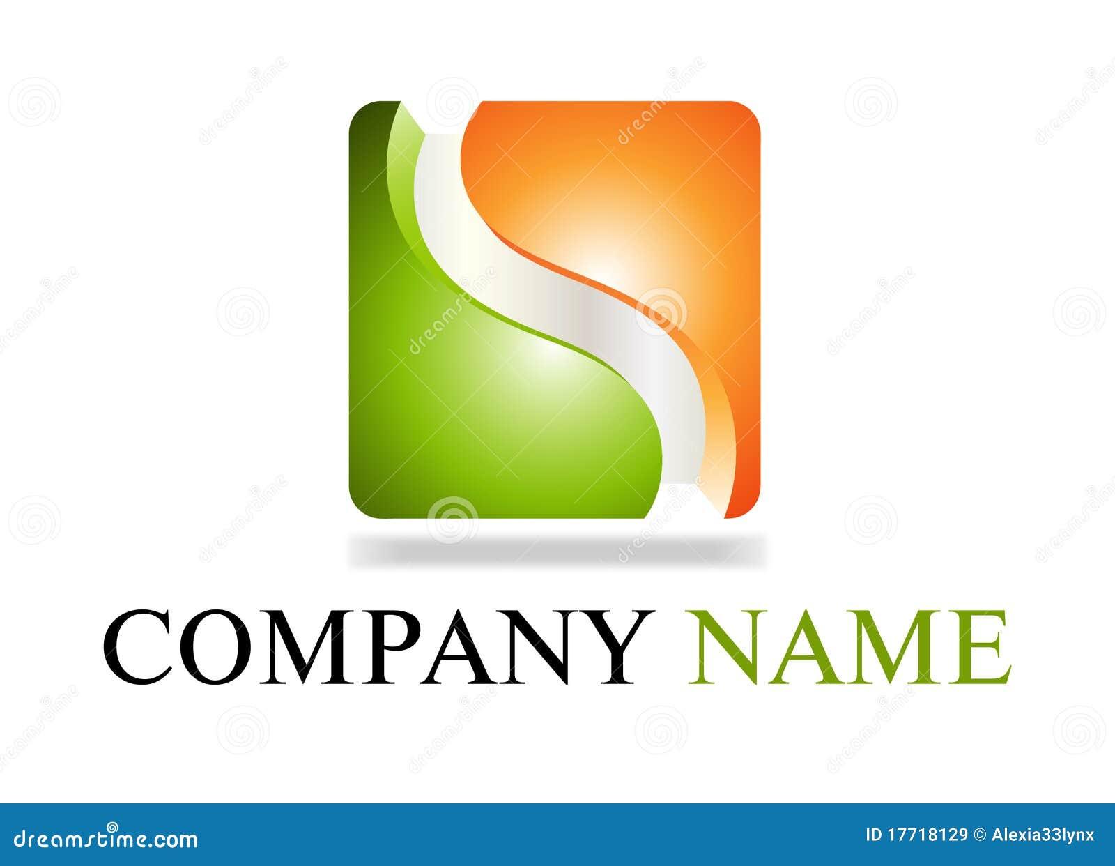logo vert et orange images libres de droits image 17718129. Black Bedroom Furniture Sets. Home Design Ideas