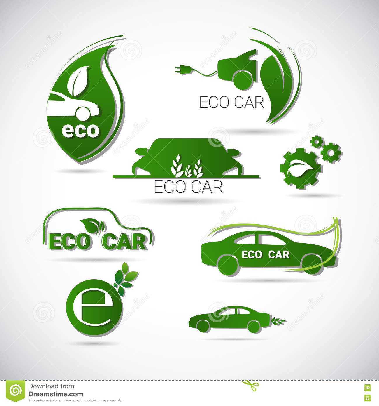 Illustration Stock Logo Vert R C3 A9gl C3 A9 D Environnement De Voiture  C3 A9lectrique D Eco De Machine D Ic Ne Amicale De Web Image79682023 on electric car illustration