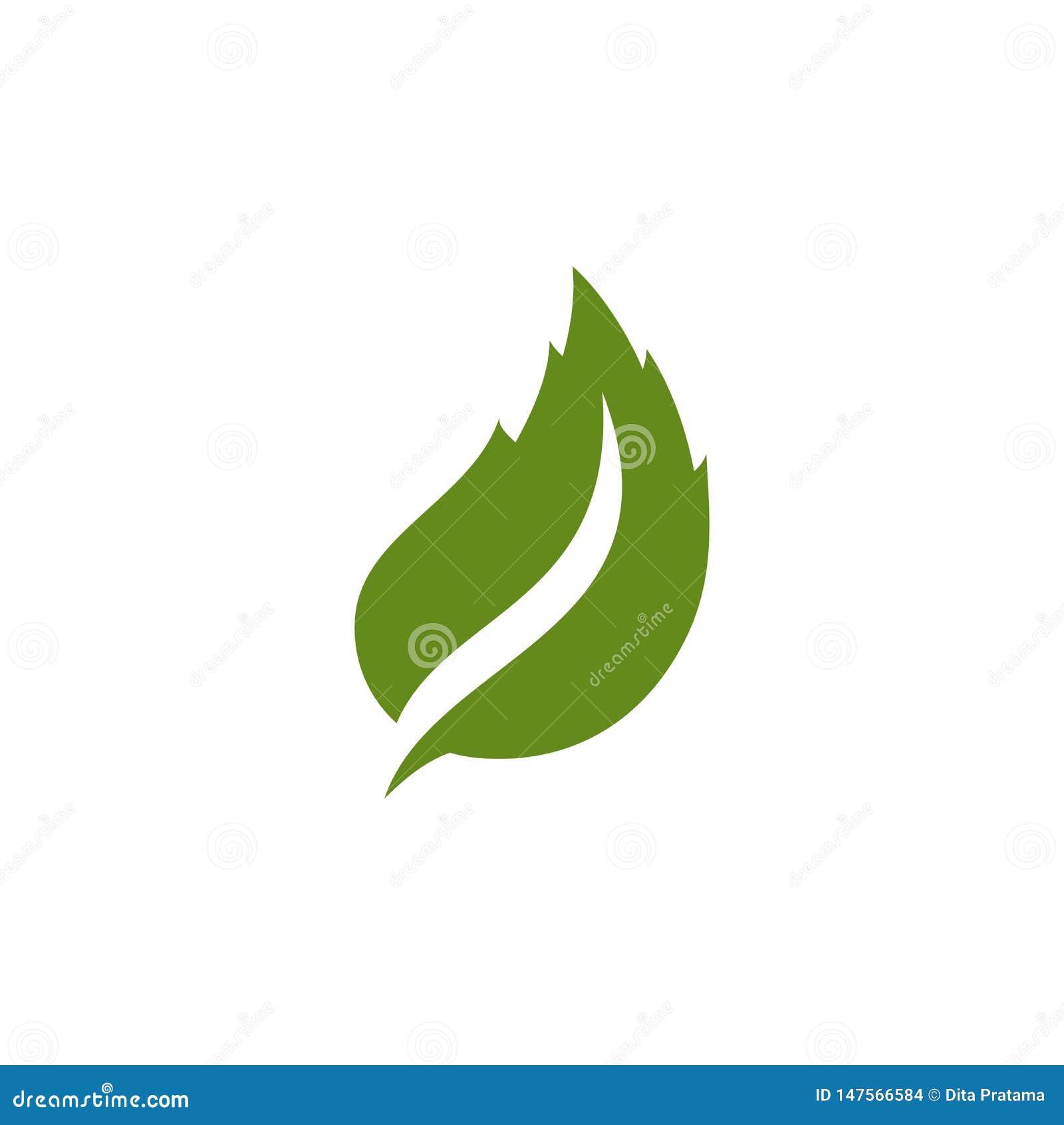 Logo vert unique de feuille