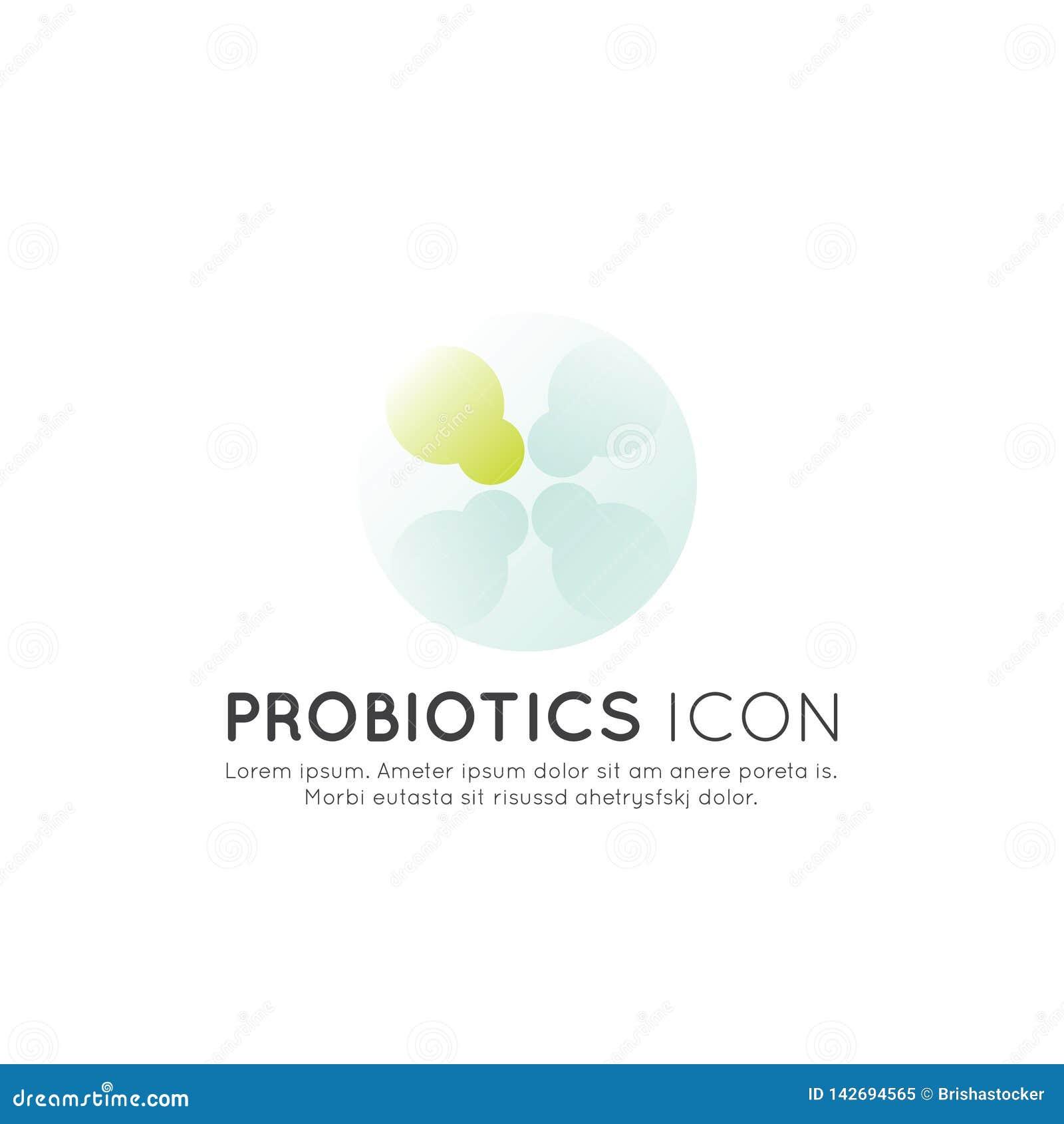 Logo von Nahrungsmittelergänzungen, -bestandteile und -vitamine und -elemente für Biopaketaufkleber, natürliche gesunde Konzeptio