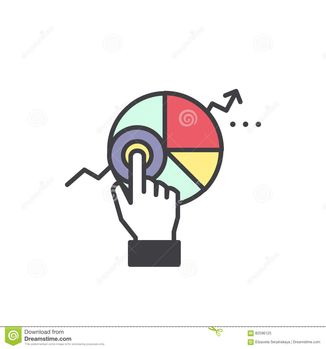 Logo of Web Analytics Information and Development Website Statistic with Simple Data Visualisation with Graphs and Diagram