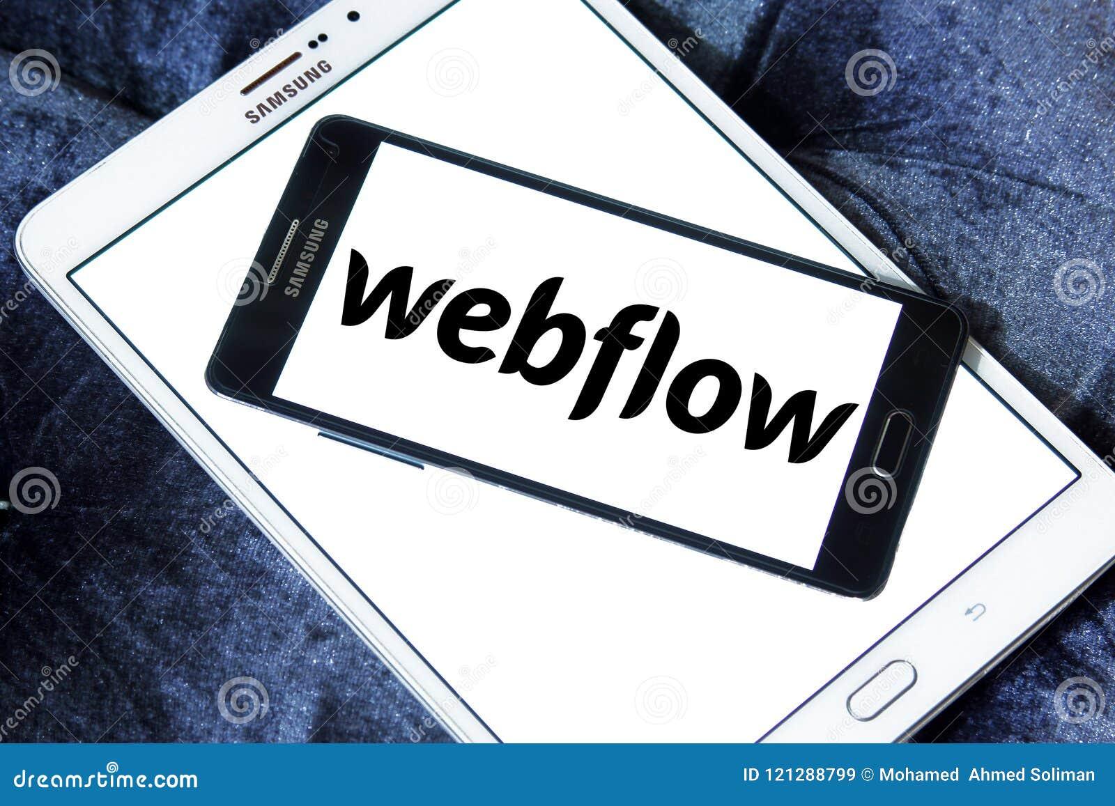 Webflow Software Company Logo Editorial Stock Image - Image
