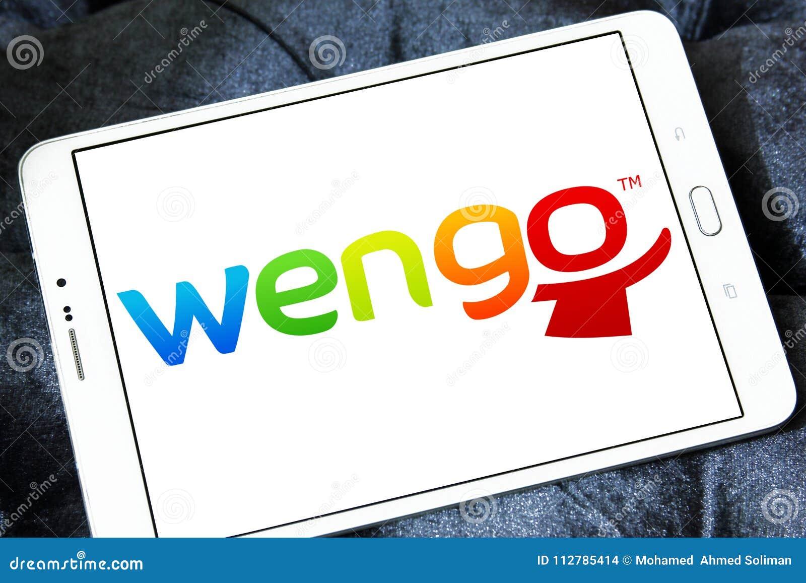Wengo company logo editorial stock image  Image of motto