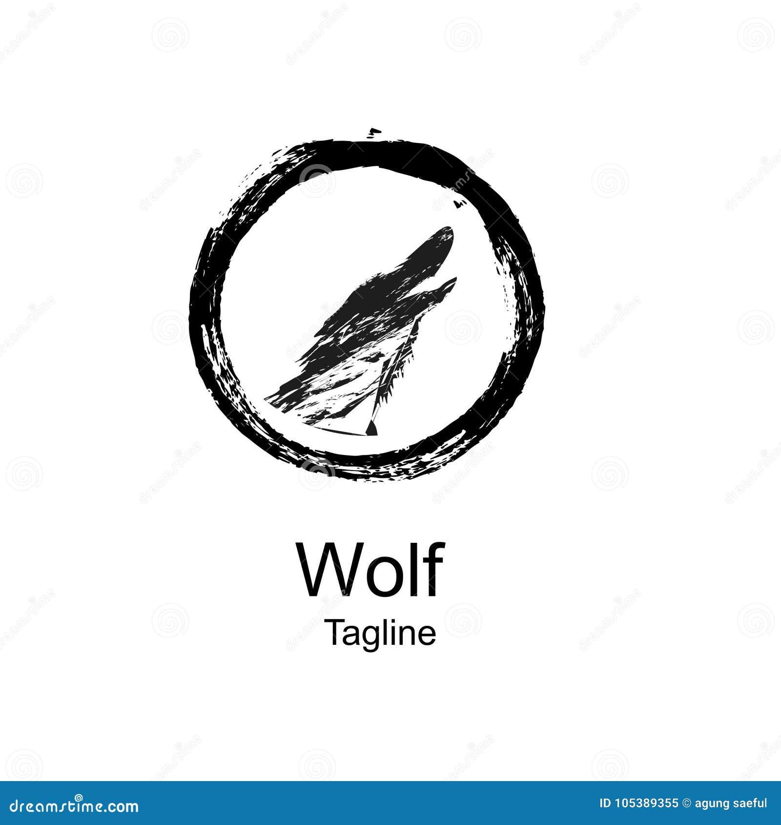 logo of wolf design and geometric stock illustration illustration