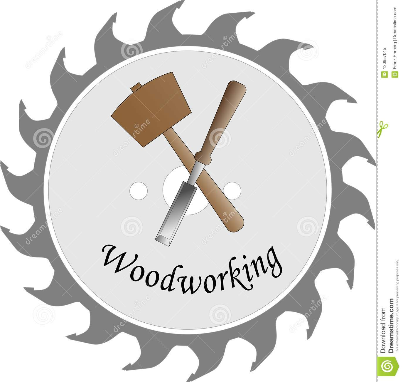 Logo For The Wood Crafts Stock Vector Illustration Of Crafts