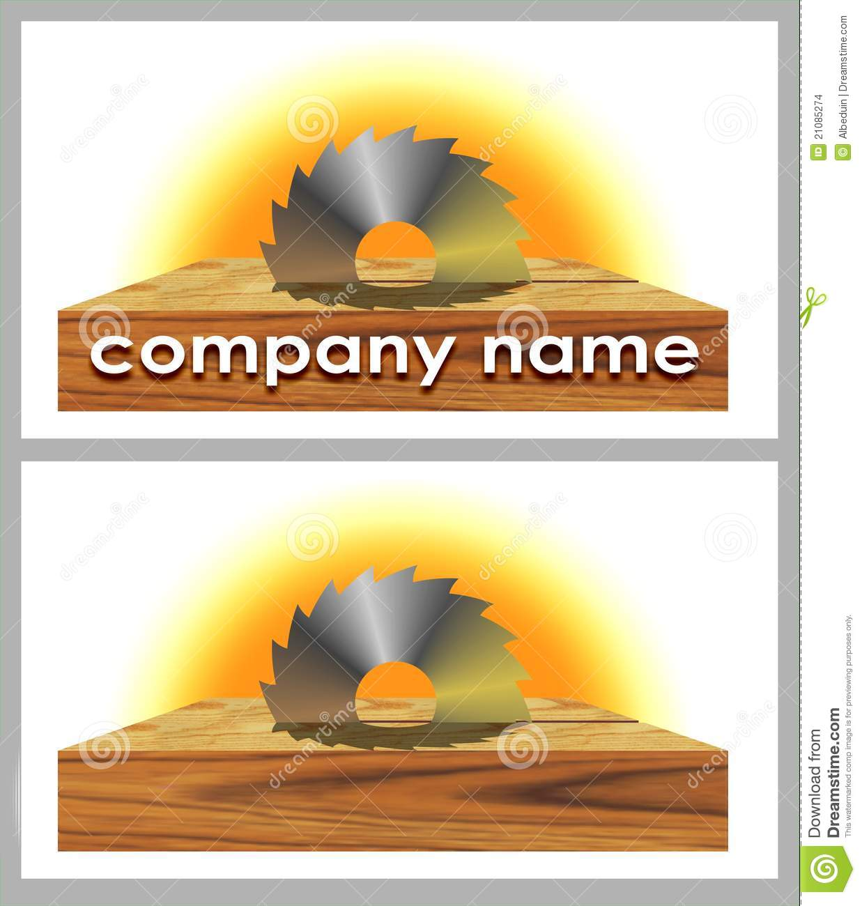 Logo Of Woodworking Company Stock Images Image 21085274